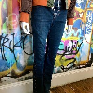 Miss Sixty stretch button flares size 28